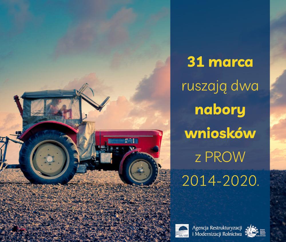 Ilustracja do informacji: 31 marca ruszają dwa nabory wniosków z PROW 2014-2020: