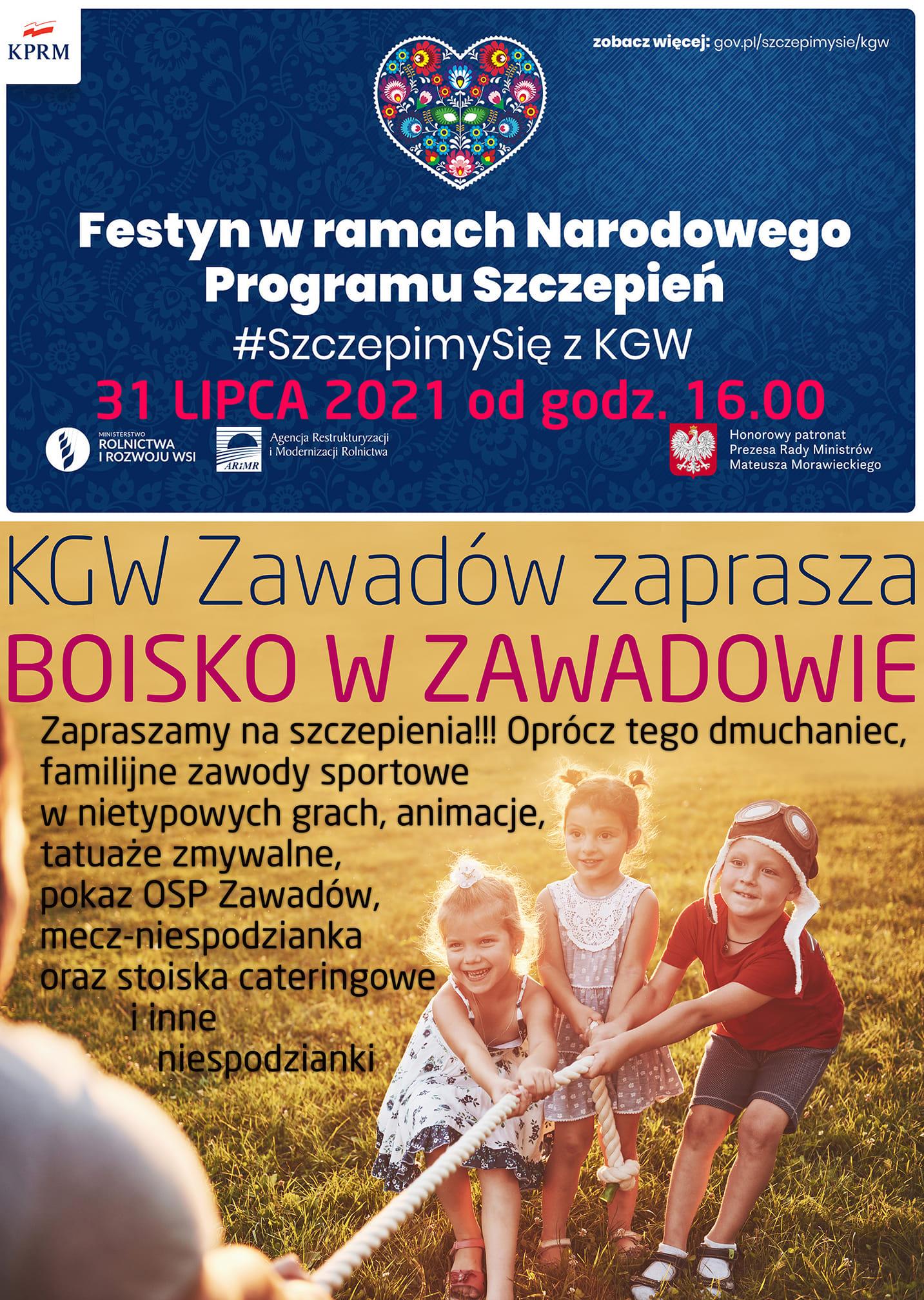 Ilustracja do informacji: Zaszczep się z KGW Zawadów